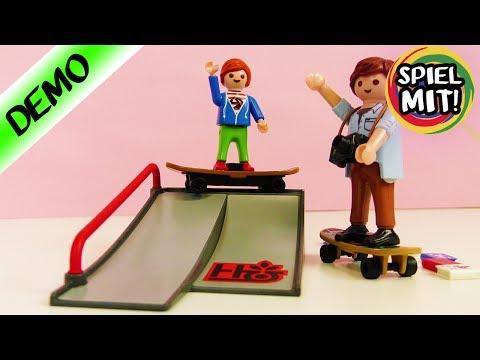 Playmobil Skaterampe für Julian Vogel! Ist das Tony Hawk? Skater mit Rampe Playmobil Deutsch
