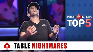 Top 5 Poker Table Nightmares | PokerStars