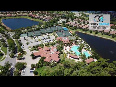 Treviso Bay Naples Florida real estate fly over drone video