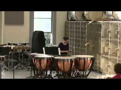 05:00 Marimba 15:20 Snare drum 17:10 Timpani 28:10 Marimba quartet