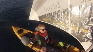 two hobie adventure island kayaks sailing from Bat-Yam Israel