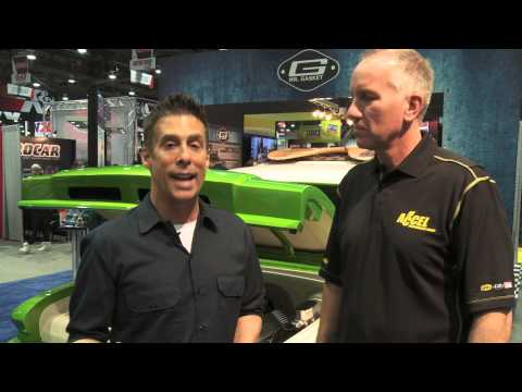 Mr. Gasket Lime Crush at SEMA 2013 - Source Interlink Coverage