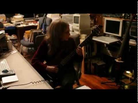 Laurie Spiegel playing guitar, shot Nov. 2012 by Dena Yago