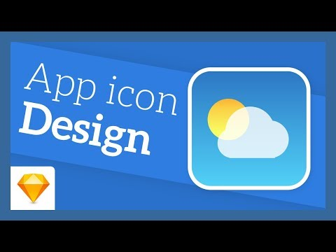 Design the Apple Weather app icon | Sketch tutorial