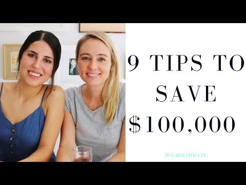 HOW A MILLENNIAL SAVED $100,000 IN 3 YEARS ♥ 9 TIPS FOR SAVING MONEY || SugarMamma.TV