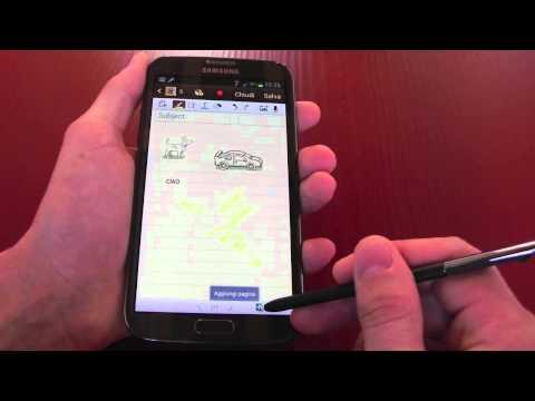 Foto Funzioni speciale e dettagli Samsung Galaxy Note 2