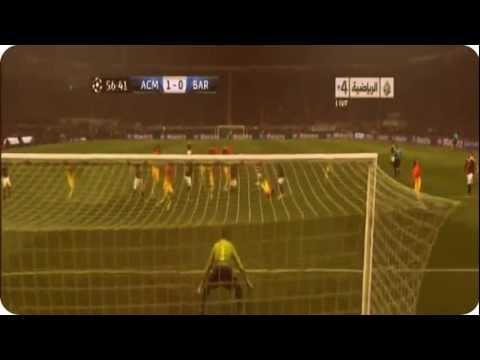 أهداف ميلان 2-0 برشلونة [21/2/2013] علي سعيد الكعبي [HD]