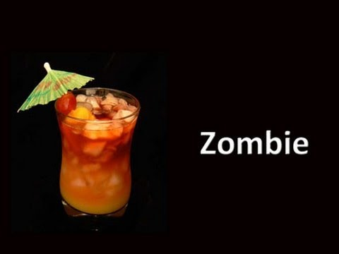 Zombie Cocktail Drink Recipe
