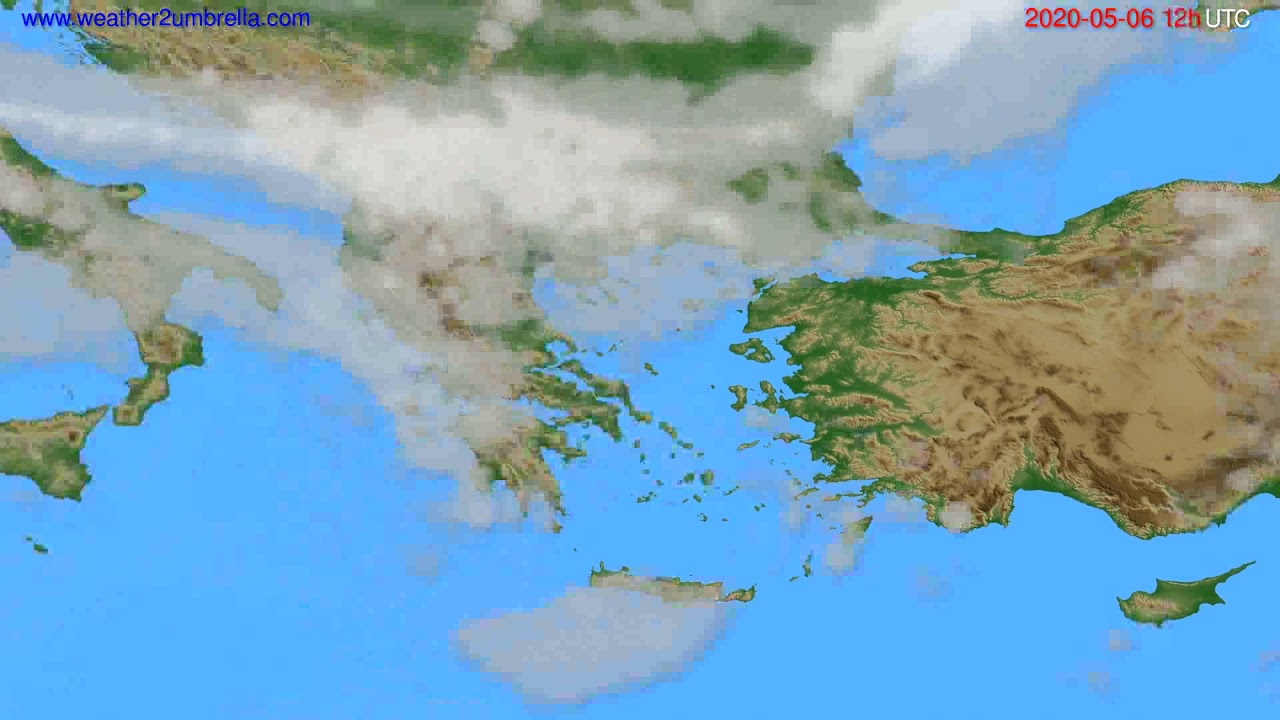 Cloud forecast Greece // modelrun: 00h UTC 2020-05-06