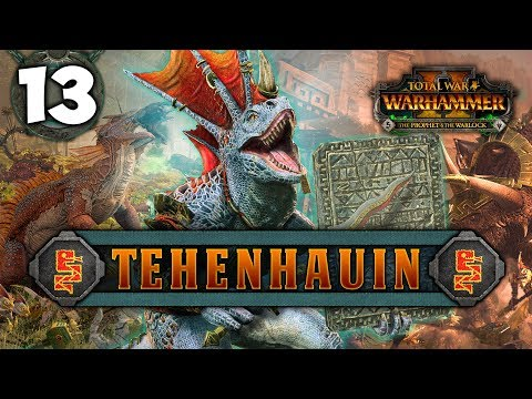 UNITING THE LIZARDMEN! Total War: Warhammer 2 - Lizardmen Campaign - Tehenhauin #13