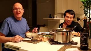 Long và Rob Ăn Lẩu Hải Sản Tự Chế| Long Tran USA