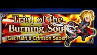Trial of the Burning Soul for Rain's Set Equipment - Final Fantasy Brave Exvius FFBE