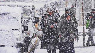 New Year's SNOW in Turkey. SnowStorm hits Bitlis, Hizan Storm