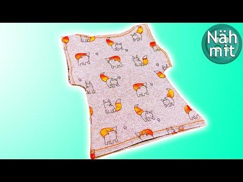 Kinder Shirt NÄHEN in 5 Minuten | T-Shirt Nähanleitung einfach | Nähen für Anfänger | Näh mit mir!