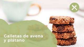 Galletas de avena y plátano   Receta Vita33