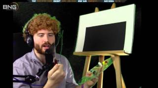 Bob Ross Parody – Painting Happy Little Stars & Planets