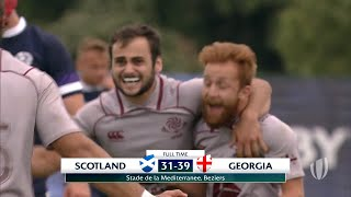 World Rugby U20 Highlights, Scozia-Georgia 31-39