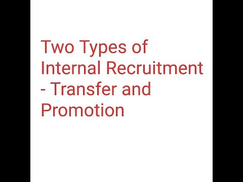Transfer and Promotions-Types of Internal Recruitment, Class 12, Business Studies