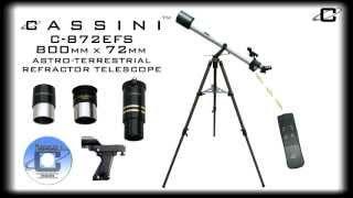 Cassini C 872EFS 800mm x 72mm Astro-Terrestrial Refractor Telescope