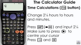 Time calculations on a calculator