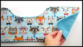 {Step-by-Step Sewing} DIY Baby Burping Cloth