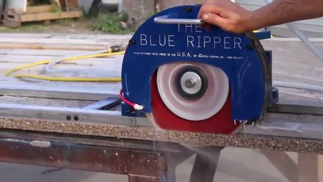 Blue Ripper Jr™ Rail Saw for Granite marble porcelain stone glass counter tops