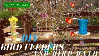 Dollar Tree DIY | Bird Feeders & Birth Bath