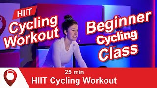 Beginner Spin Class | 25 Minute HIIT Cycling Workout | Fitscope Studio