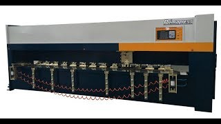 Automatic cnc v groover machine Cutting 1.2mm stainless steel working videos