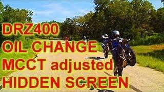DRZ400 FULL Oil Change HIDDEN SCREEN MCCT adjusted