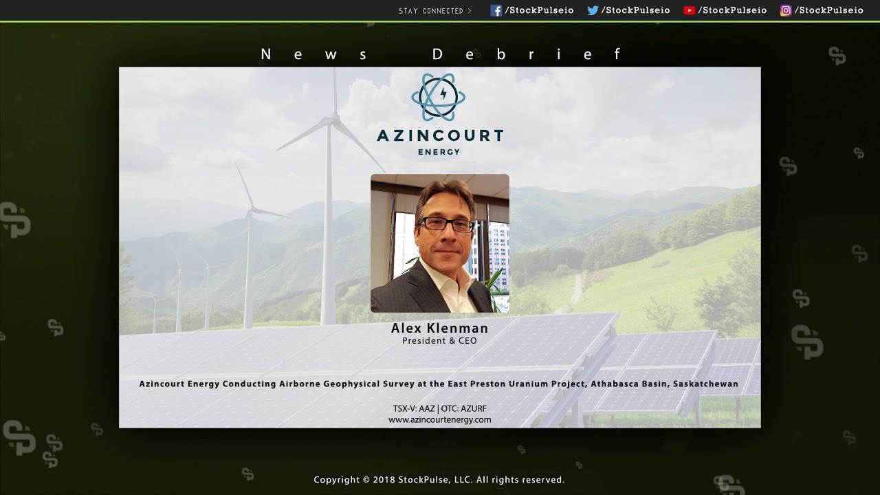 Azincourt Energy Conducting Airborne Geophysical Survey at the East Preston Uranium Project