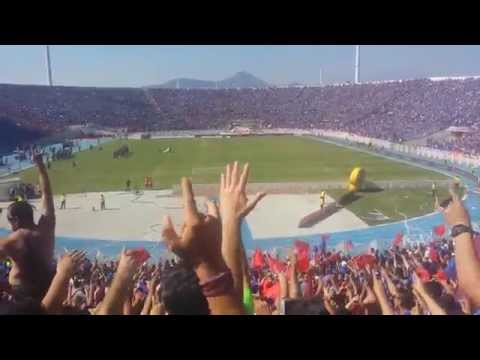 """""""Salida U de Chile vs La Calera / Campeones 2014 / Los de Abajo"""" Barra: Los de Abajo • Club: Universidad de Chile - La U"""