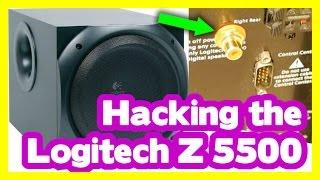 Logitech Z 5500 Hack - Aktiv Subwoofer umbau - Hacking The Logitech Z 5500
