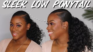 Detailed Easy Slick Low Ponytail on Type 4 Natural Hair WITHOUT Gel or GOT TO BE