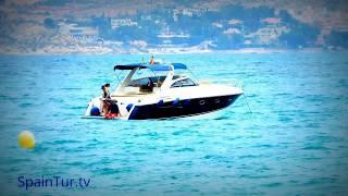 Video timelapse Alicante, playa Postiguet, Puerto, Аликанте, пляж, море, таймлапс