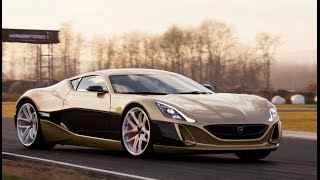 Rimac Concept_One versus Bugatti Veyron - track and drift action!