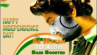 Ae Watan | Male | 3D Audio | Bass Boosted | Arijit Singh | Virtual 3d Audio | HQ