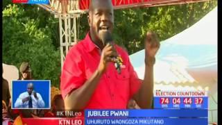 Rais Uhuru Kenyatta na Naibu wake William Ruto waendeleza kampeni za Jubilee Pwani