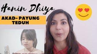 AKAD- Payung Teduh Cover By Hanin Dhiya - Reaction Video!