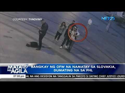 [EagleNewsPH]  Bangkay ng OFW na namatay sa slovakia, dumating na sa PHL