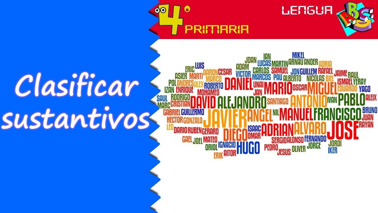 Lengua Castellana. 4º Primaria. Tema 2. Clasificación de sustantivos