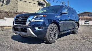 2021 Nissan Armada 4x4 Platinum Walkaround + Exhaust (No Talking)(ASMR) by MilesPerHr