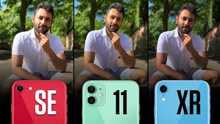 Apple iPhone SE (2020) vs Apple iPhone 11 vs Apple iPhone XR  Camera Comparison!