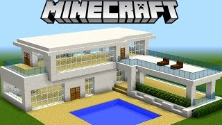 Tutoriais de casas minecraft 123vid for Casa moderna 4x4