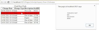 Get GridView Row Data On Row Click Using jQuery