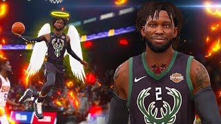 DEEP CONTESTED AMAZING FOUR POINT PLAY FROM THREE POINT GAWD! NBA Live 19 The One Career