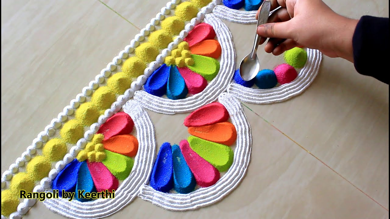 rangoli competition easy thoran design by keerthi