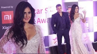 Salman Khan With Beautiful GF Katrina Kaif At Star Screen Awards 2018