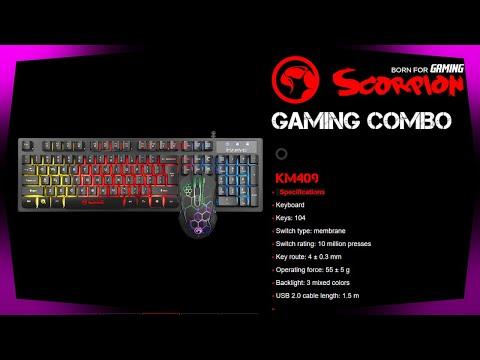 Marvo Scorpion KM409 7 Colour Rainbow LED USB Gaming Keyboard & Mouse Set Review
