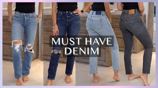 My Top 10 Most Worn Jeans | Must Have Denim Basics: Agolde, Levi's, GRLFRND, Ksubi